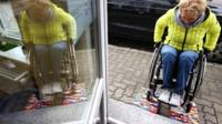 Woman solves wheelchair access problem - with Lego