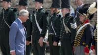Prince Of Wales visits the Battlefield on June 17, 2015 in Waterloo, Belgium