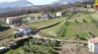 Abruzzo village where landslide is threatening homes