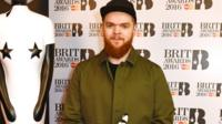 Jack Garratt on the red carpet at the Brit nominations
