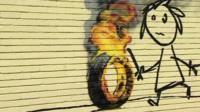 Banksy mural on wall