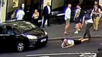 Man pushed infront of traffic