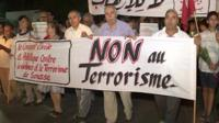 Tunisians marching against terrorism