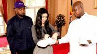 Kanye, Kim and Yoweri Museveni