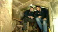Daniel and Alex in bunker