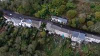 Drone footage of landslip