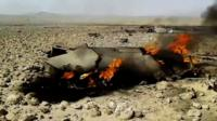 Video of burning plane wreckage