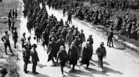 Archive picture of soldiers marching