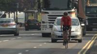 Undercover officer on bike in Birmingham