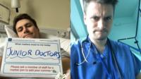 Picture of David as a doctor and as a patient