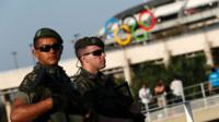 Security Forces outside Olympic stadium Rio