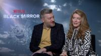 Charlie Brooker and Annabel Jones