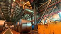 Tata steel works in Llanwern