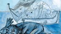Barque de naïades et faune blessé