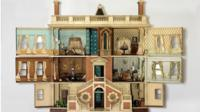 A dollhouse on display at the National Building Museum