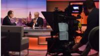 Jeremy Corbyn talking to Andrew Marr