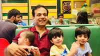 Amin Rasheed and his children