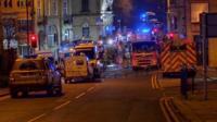Scene in Batley after blast