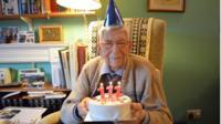Bob with his cake