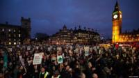 Protests in central London