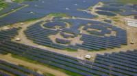 A solar plant in China
