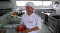 Elsa, one of the students from the Pachacutec Institute of Cooking