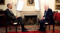 US President Barack Obama and Sir David Attenborough