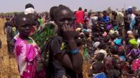 People queuing in South Sudan
