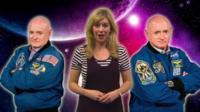 Jenny with astronauts