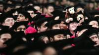 Crowd of Harvard University students at their graduation