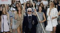 Lagerfeld with models