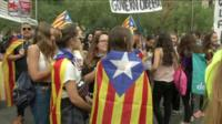 Catalan students rallying for independence