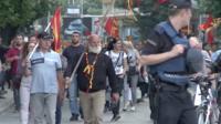 Демонстрация в Скопье