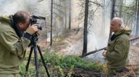 Steve Rosenberg reporting in Siberia