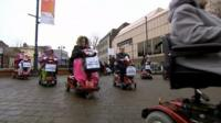 Shopmobility protest in Luton