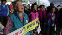South Korean villager protests US anti-missile system