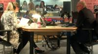 Emma Barnett and Jeremy Corbyn in the studio