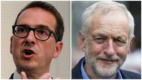Owen Smith and Jeremy Corbyn