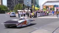 Delft University's solar-powered car