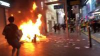 Rioter in Hong Kong