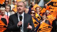 Tim Farron at Lib Dem rally
