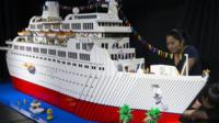 Lego exhibit in South America