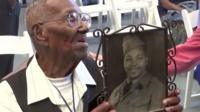 Lawrence Brook from New Orleans is believed to be the oldest surviving US veteran from the war.