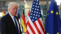 Donald Trump in Brussels - 24 May