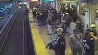 A station employee is being hailed as a hero for saving the man in Oakland, California.