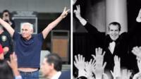 Roger Stone (L) and US President Richard Nixon