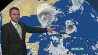 Satellite image of Irma and Jose