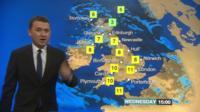 Matt Taylor presenting the weather