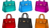 coloured handbags