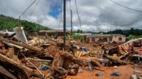 BBC reporter Pumza Fihlani gives a glimpse of what the trail of destruction in Mozambique looks like.